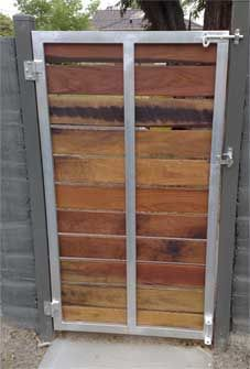 Front view of a diy gate frame diy home security ideas pinterest wood metal gate need to redo lower deck gates like this joel freixas solutioingenieria Image collections