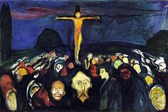 Edvard Munch Golgotha Painting   Best Paintings For Sale