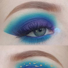 A makeup lover on Reddit's Makeup Addiction shared a starry eye inspired makeup look we love. Find out how to get the eyeshadow look at home, here. #Makeup #EyeMakeup #Beauty #Eyeshadow #EyeMakeupIdeas