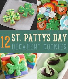 Green desserts and StPatricksDay cookies! Try it: www.teelieturner.com  #DIY