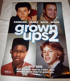 "grown ups 2 Original Movie Poster, 27"" x 40"" Size, FAST FREE SHIPPING Included!"