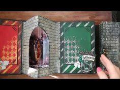 (10) Альбом по миру Гарри Поттера - YouTube Harry Potter Pop Up, Photo Harry Potter, Harry Potter Cards, Mundo Harry Potter, Harry Potter Christmas, Harry Potter Theme, Mini Albums, Mini Album Scrap, Scrapbook Page Layouts