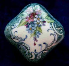 Signed Hand Painted Porcelain Ring Trinket by KarlaPendletonStudio