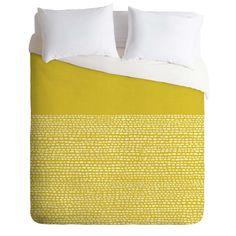 Jacqueline Maldonado Riverside Yellow Duvet Cover | DENY Designs Home Accessories