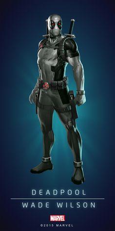 #Deadpool#Fan#Art. (DEADPOOL UNCANNY IN: MARVEL PUZZLE QUEST. ART) By Amadeus. Cho. ÅWESOMENESS!!!™ ÅÅÅ+
