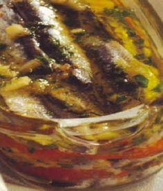 Filets d'anchois persillés, cuisine mediterraneenne
