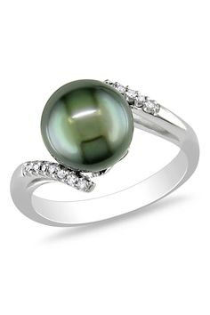 Tahitian Pearl - Diamond Ring