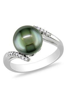 Tahitian Pearl - Diamond Ring