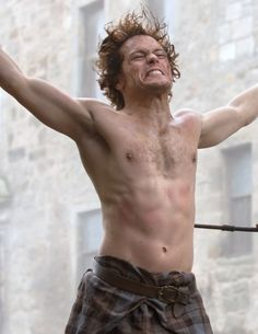 And this belted plaid. | Community Post: 20 Verra Verra Braw Reasons Why Sam Heughan Is The Perfect Jamie Fraser