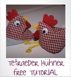So einfach kannst du ein Tetraeder-Huhn nähen!