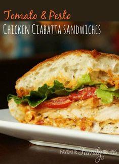 Tomato Pesto Chicken Sandwiches