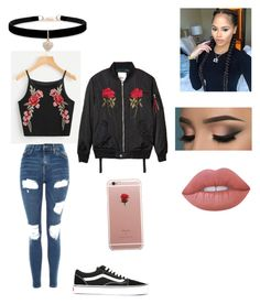 """""""Roses """" by jasmine12-mcneal on Polyvore featuring Topshop, Vans, Betsey Johnson, ETUÍ and Lime Crime"""