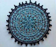 Overlay Crochet Mandala Pattern Crocheted by YarnHouseCreations