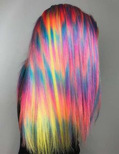 60 Best Horizontal Lines of Rainbow Hair Colors for 2018. Check out here the varieties of rainbow hair colors to show off in 2018. We've gathered here some of the top trends of rainbow hair colors in the form of horizontal lines which makes it more elegant and cute. See here and create it for you right now it you're thinking to change the hair colors looks for 2018.