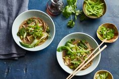 Vegan Faux Pho, with mushroom broth! Pho is a vegetable-and-noodle soup traditionally made with beef stock. Dried wild mushrooms create the flavorful base of this vegan pho. Plant Based Eating, Plant Based Diet, Plant Based Recipes, Vegan Soups, Vegetarian Recipes, Vegan Food, Vegan Meme, Healthy Soups, Vegetarian Dinners