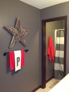 Little, big boy's bathroom