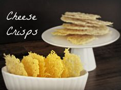 Cheese Crisps - (Basically the same oven recipe I pinned before, I think.)
