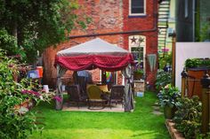 ways to add drama to your garden. Curtain Call, Buffalo, Gazebo, Gardens, Outdoor Structures, Curtains, Insulated Curtains, Kiosk, Blinds