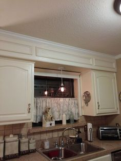 Before And AfterUnsightly Kitchen Soffits Kitchen soffit 70s