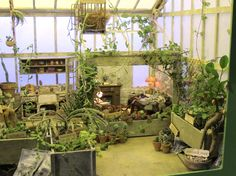 Amazing miniature Harry Potter garden- Professor Sprout's herbology class • Definitely worth a click to view all her intricate details