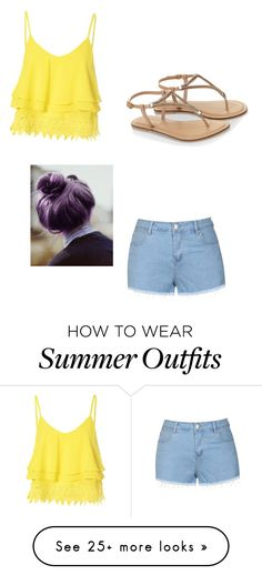 """""""summer outfit"""" by cupackesandunicorns on Polyvore featuring Glamorous, Ally Fashion, Accessorize, women's clothing, women, female, woman, misses and juniors"""