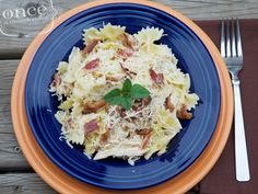 Garlic Chicken Farfalle recipe #picnic #summerfoods #freezercooking