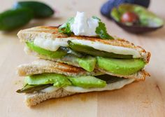 Avocado Jalapeño grilled cheese sandwich