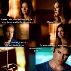 In that moment I loved him! #delena