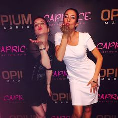Our Creative Director @caspiansiren and Social Media Manager @cucaguilabert spotted in our AW16 collection garments attending R&B night in the Opium, Madrid