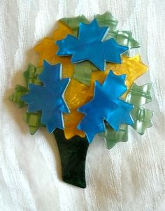 Lea Stein Paris Tree Brooch