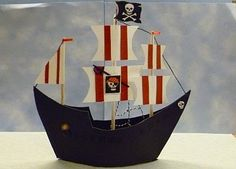 Pirate ship made of paper