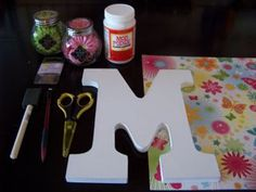 Wooden letter decorating