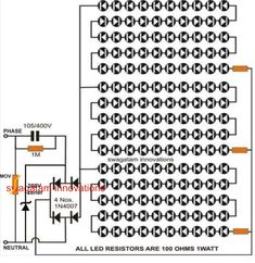 Auto Intensity Control of High Powered LED Lights Circuit | Night ...