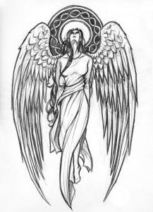 Эскизы тату ангелов | ТриТатушки