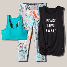 Love this combo! Cheer Outfits, Sporty Outfits, Gym Outfits, Running Outfits, Cute Athletic Outfits, Athletic Fashion, Athletic Gear, Workout Attire, Workout Wear