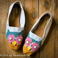 Owl Toms! Have to repin these for my roommate Kacey! :)))