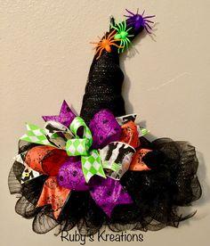 Halloween Witch Hat Wreath