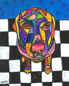 50% Off - Lab Art Labrador Retriever Art art dog Art Print Poster by Heather Galler (HG546)