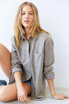 BDG Linen Button-Down Shirt - Urban Outfitters