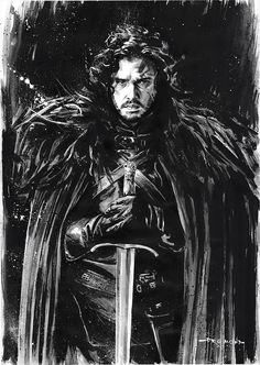 Jon Snow - Game of Thrones - Drumond Art