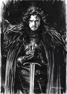 Jon Snow - Game of Thrones - Drumond Art