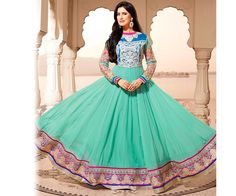 Blue Anarkali Salwar Suit
