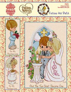 Precious Moments Counted Cross Stitch Charts Book ~ FOLLOW HIS PATH