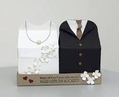 Bildergebnis für stampin up leckereien box. Wedding, bride and groom boxes made from baker box Thinlit