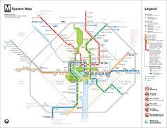 Washington DC Metro Diagram Redesign | Cameron Booth