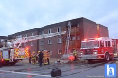 Atleast 1 rescued From an apartment fire on Lakecrest in Dartmouth. Fire crews continue to secure the evacuated building