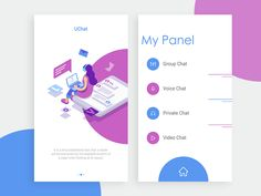 Chat App Exploration designed by Shadhin Sarker 💢 . Connect with them on Dribbble; the global community for designers and creative professionals. Design Sites, Web Design Websites, Resume Design, Ui Design, Momo App, Car App, Flat Illustration, Illustrations, Voice Chat