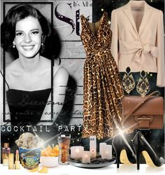 """""""Natalie Wood - Cocktail Party"""" by leticiacbm on Polyvore"""