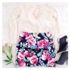 "Floral Mini Skirt This pretty floral mini skirt has a style that can be dressed up with a nice blouse or down with a tee & Jean jacket. The material has a nice stretch to it {actual color of item may vary slightly from photos}  •Measurements taken flat•waist:15.5""•hips:17""•length:15.5""  Material:75%rayon21%nylon4%spandex ️machine wash  ️Fit:could work for medium Condition:no rips no stains  ❌no holds ❌no trades ♥️️bundles of 3/more items get 20% off Janette Skirts Mini"
