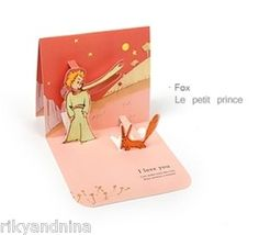 Kawaii Le Petit Prince Pop Up Love Deco Greeting Card Sweetheart Message Card | eBay